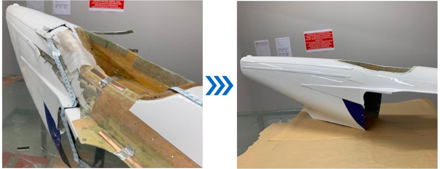 reconstruction pièce aéronautique en composite