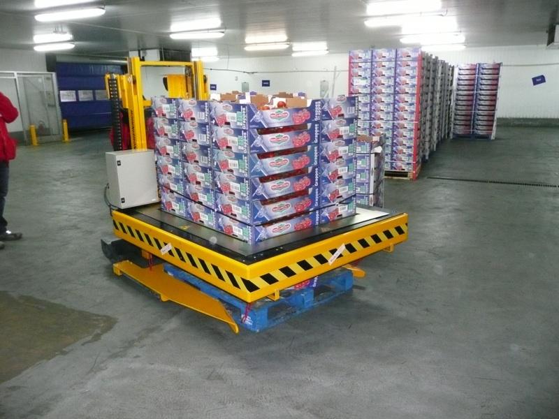 vue d'une opération logistique avec machines spéciales manutention