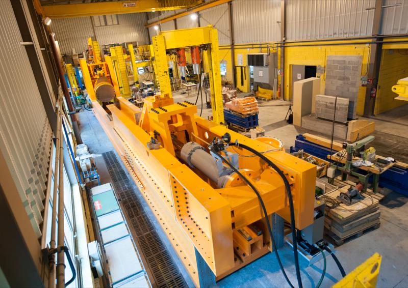 vue d'un atelier pour une rénovation machine industrielle