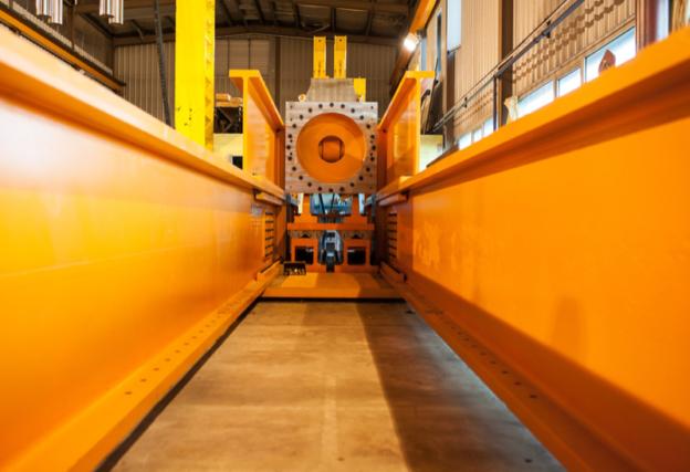 à l'intérieur rénovation machine industrielle rétrofit