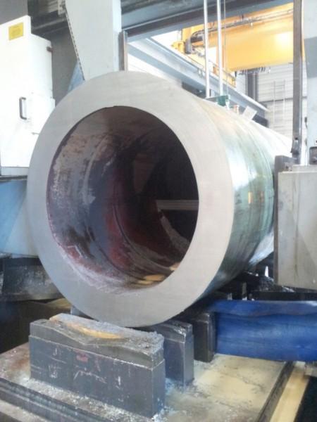 exemple de découpe métal pièce grande dimension finalisée