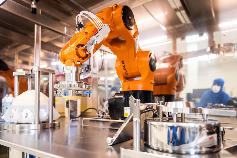 Création d'une ligne de production robotisée pour le secteur médical