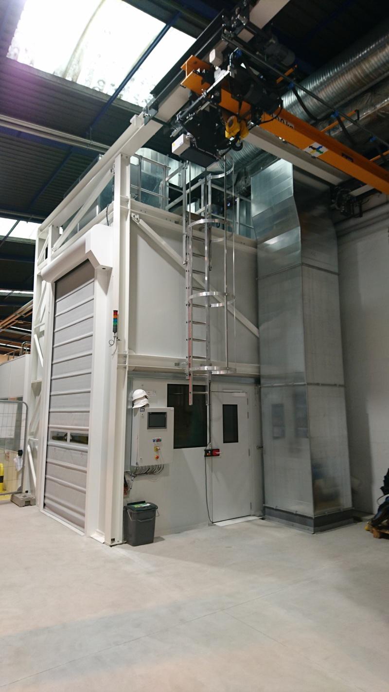 cabine cellule robotisée aéro gommage vue