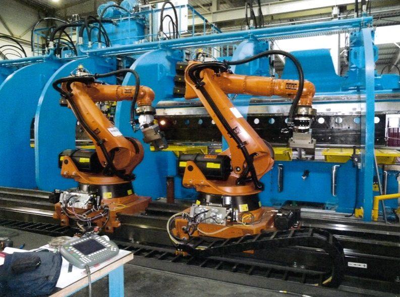 robot pliage en action