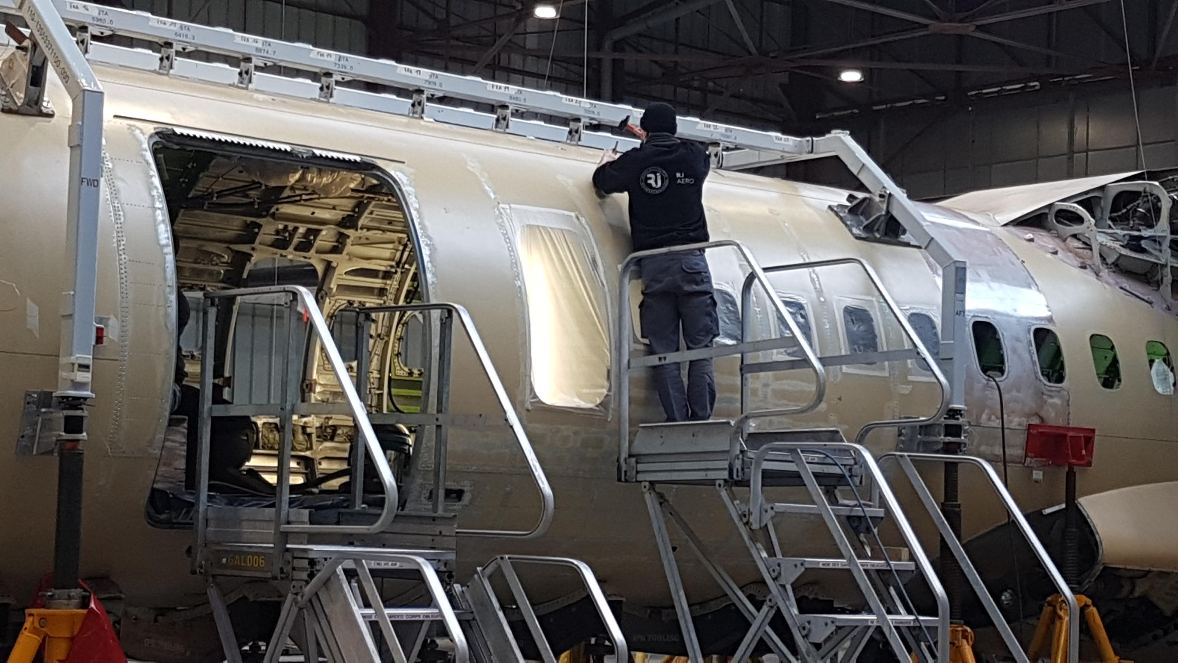 maintenance aéronautique : vue d'une opération