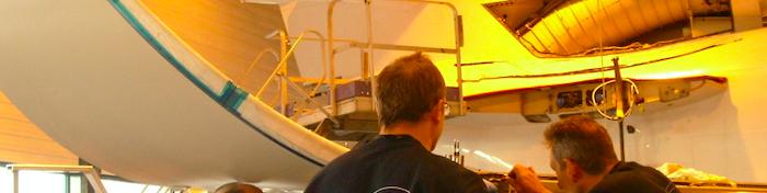 vue de réalisation de contrats de maintenance aéronautique