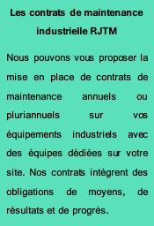 contrat de maintenance industrielle