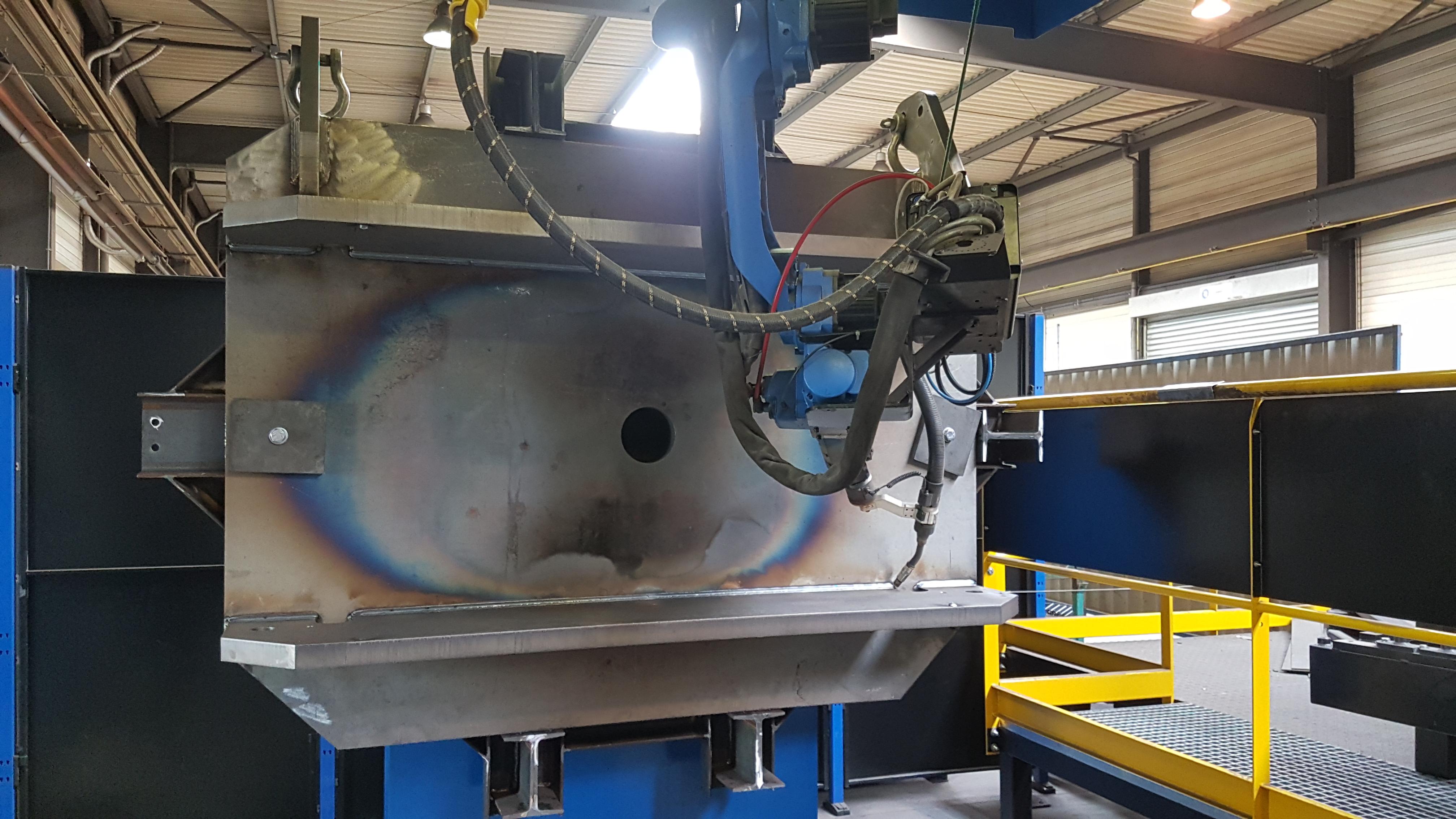 soudure robotisée sur ensemble mécano soudé
