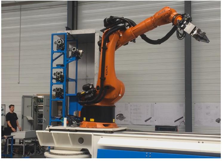 opérations de test sur robot de démantèlement nucléaire